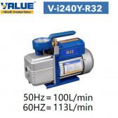 Pompe à vide double étage avec vacuomètre V-I240Y-R32