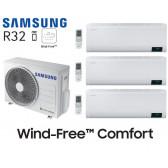 Samsung Wind-Free Comfort Tri-Split AJ052TXJ3KG + 3 AR07TXFCAWKN