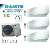 Daikin Emura Trisplit 3MXM52N8 + 2 FTXJ20MW + 1 FTXJ35MW  - R32