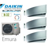 Daikin Emura Trisplit 3MXM52N8 + 2 FTXJ20MS + 1 FTXJ35MS - R32