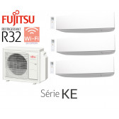 Fujitsu Tri-Split Mural AOY71M3-KB + 2 ASY20MI-KE + 1 ASY40MI-KE