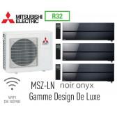 Mitsubishi Tri-split Mural Design De Luxe MXZ-4F83VF + 2 MSZ-LN25VGB + 1 MSZ-LN35VGB - R32
