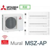 Mitsubishi Tri-split Mural Compact MXZ-3F68VF + 1 MSZ-AP15VGK +1 MSZ-AP20VGK + 1 MSZ-AP35VGK - R32