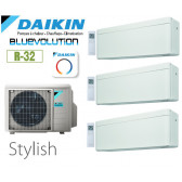 Daikin Stylish Trisplit 3MXM68N9 + 2 CTXA15AW + 1 FTXA42AW - R32