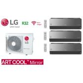 LG Tri-Split ARTCOOL MIRROR MU3R21.U21 + 2 X AC09BQ.NSJ + 1 X AC12BQ.NSJ
