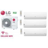 LG Tri-Split DELUXE WIFI MU3R19.U21 + 2 X DM07RP.NSJ + 1 x DC09RT.NSJ - R32