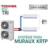 Ensemble Twin Toshiba MURAUX KRTP SDI R32 triphasé