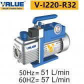 Pompe à vide double étage avec vacuomètre V-I220-R32