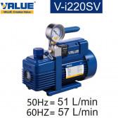 Pompe à vide double étage avec vacuomètre V-I220SV