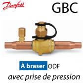 """Vanne à boisseau sphérique GBC """"Danfoss""""  avec prise schrader, ODF"""