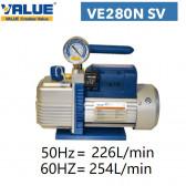 Pompe à vide double étage avec vacuomètre VE280N SV