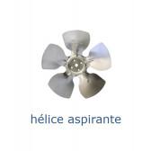 Hélice aluminium 154 mm - 28º - aspirante