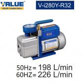 Pompe à vide double étage avec vacuomètre V-i280Y-R32