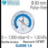 Vacuomètre à cadran PF80/VC1
