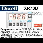 Régulateur digital XR70D-5N0C0 de Dixell