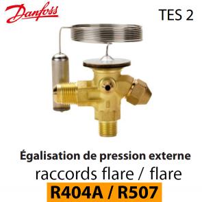Détendeur thermostatique TES 2 - 068Z3403 - R404A, R449A, R407A, R452A/R507 Danfoss