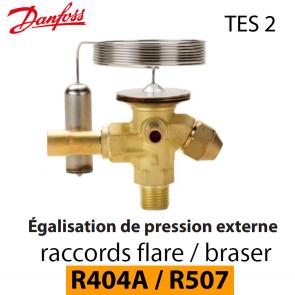 Détendeur thermostatique TES 2 - 068Z3415 - R404A, R449A, R407A, R452A/R507 Danfoss