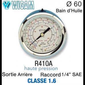 Manomètre avec Bain d'Huile R410A HP