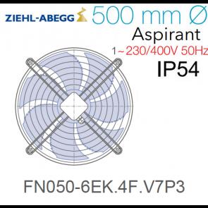 Ventilateur hélicoïde FN050-6EK.4F.V7P3 de Ziehl-Abegg