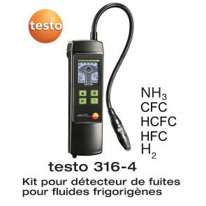 Testo 316-4 - Detecteur de fuite de réfrigérant - spécial ammoniaque