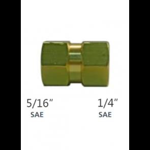 Raccord 1/4'' SAEF x 5/16'' SAEF pour R410