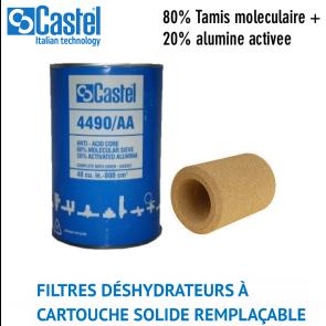 Filtre déshydrateur à cartouche solide remplaçable 4490/AA