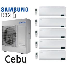 Samsung Cebu 5-Split AJ100TXJ5KG + 4 AR07TXFYAWKN + 1 AR12TXFYAWKN