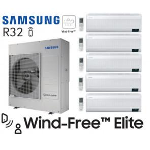 Samsung Wind-Free Elite 5-Split AJ100TXJ5KG + 4 AR07TXCAAWKN + 1 AR12TXCAAWKN