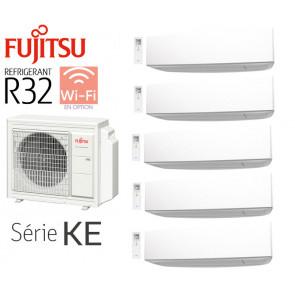Fujitsu 5-Split Mural AOY100M5-KB + 4 ASY20MI-KE + 1 ASY40MI-KE