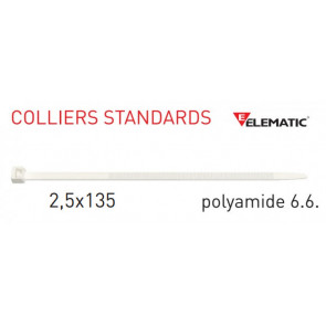 "Colliers de câblage standard Naturel 135x2,5 mm de ""Elematic"""