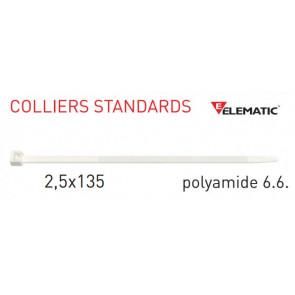 "Colliers de câblage standard Naturel 135x2,5 mm de ""Elematic"""