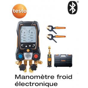 testo 557s kit Smart Vide - Manifold électronique intelligent avec sondes de vide et de température à pince sans fil