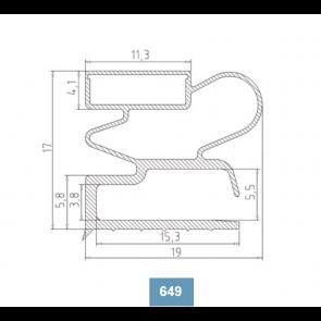 Joint de porte 649 - 1046 x 570 mm