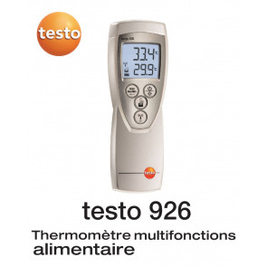 Testo 926 - Thermomètre à sonde interchangeable