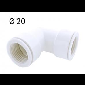 Courbe 90° Ø 20 pour tube rigide