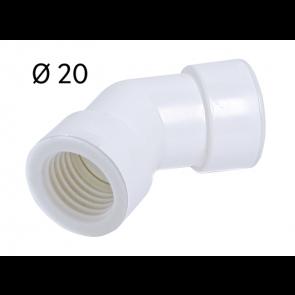 Courbe 45° Ø 20 pour tube rigide