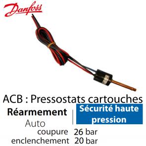Pressostat Cartouche ACB-2UB508W - 061F7508 Danfoss