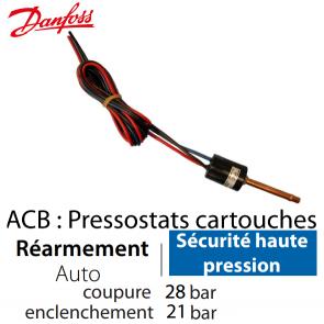 Pressostat Cartouche ACB-2UB513W - 061F7513 Danfoss