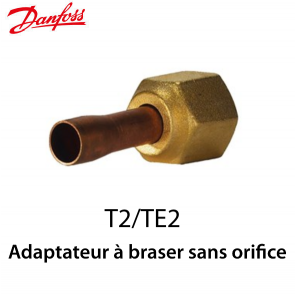 Adaptateur à braser sans orifice 1/4 In ODF Danfoss