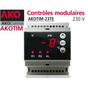Contrôles modulaires AKOTIM-23TE/1 avec 2 sondes NTC