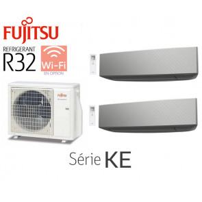 Fujitsu Bi-Split Mural AOY50MI-KB + 2 ASY25MI-KE Silver
