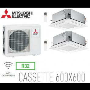 Mitsubishi Bi-split Cassette Inverter 4 voies 600 x 600 MXZ-5F102VF + 2 SLZ-M50FA