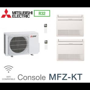 Mitsubishi Bi-split Console Inverter MXZ-2F53VF + 2 MFZ-KT25VG