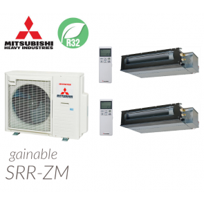 Mitsubishi Heavy Industries Bi-split Gainable SCM71ZS-W + 2 SRR35ZS-W