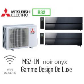 Mitsubishi Bi-split Mural Design De Luxe MXZ-2F53VF + 2 MSZ-LN25VGB - R32