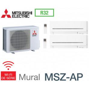 Mitsubishi Bi-split Mural Compact MXZ-2F53VF + 1 MSZ-AP25VGK + 1 MSZ-AP35VGK - R32