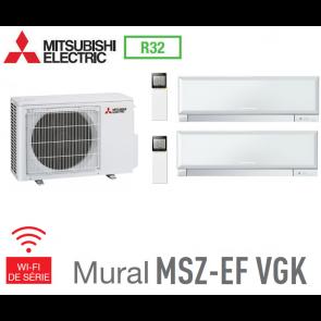 Mitsubishi Bi-split Mural Inverter Design MXZ-2F53VF + 2 MSZ-EF25VGKW