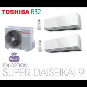 Toshiba MURAL SUPER DAISEIKAI 9 Bi-Split RAS-2M18U2AVG-E + 2 RAS-M10PKVPG-E