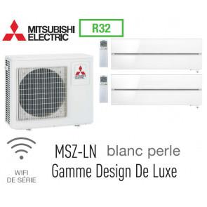 Mitsubishi Bi-split Mural Design De Luxe MXZ-3F68VF + 2 MSZ-LN35VGV - R32