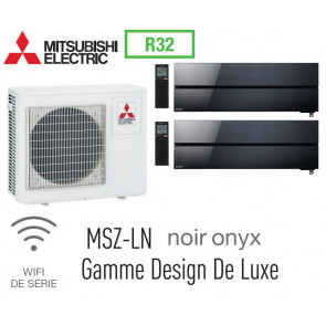 Mitsubishi Bi-split Mural Design De Luxe MXZ-3F68VF + 2 MSZ-LN35VGB - R32